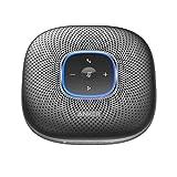 Anker PowerConf - Altavoz Bluetooth para conferencias con 6 micrófonos Integrados, grabación de Sonido Mejorada, batería de 24 Unidades, conectividad USB-C, para Oficina en casa (Negro)