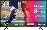 Hisense 43AE7000F UHD TV 2020 - Smart TV Resolución 4K con Alexa integrada, Precision Colour, escalado UHD con IA, Ultra Dimming, audio DTS Studio Sound, Vidaa U 4.0