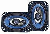 Pyle PL463BL - Sistema de altavoces 240 vatios, 3-way (10.16 cm x 15.24 cm) azul
