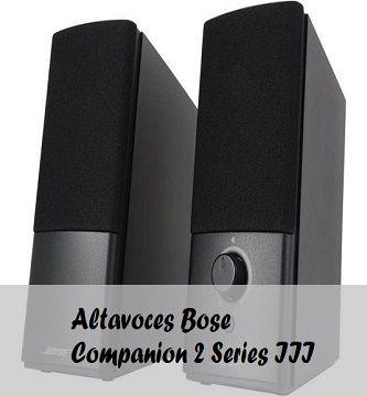 altavoces bose companion 2 series III
